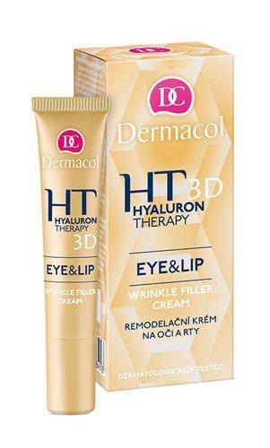 DERMACOL Hyaluron Therapy 3D Eye & Lip Cream krem do pielęgnacji oczu i ust i oczu dla kobiet 15ml