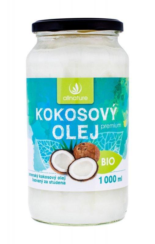 Allnature Premium Bio Coconut Oil (Preparat prozdrowotny, U, 1000ml)