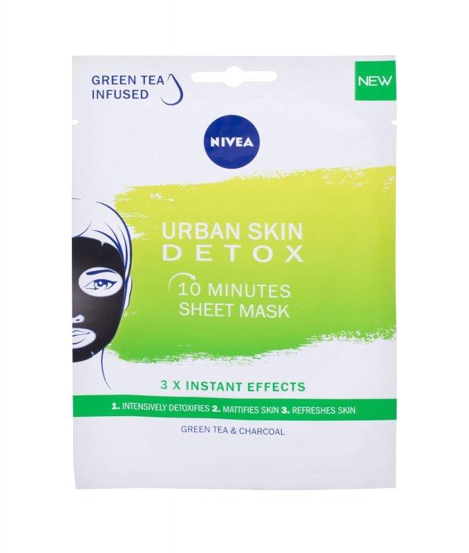 Nivea Urban Skin Detox 10 Minutes Sheet Mask (Maseczka do twarzy, W, 1szt)
