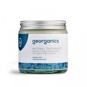 Georganics, Mineralna pasta do zębów w słoiku English Peppermint, 120ml