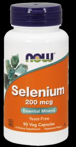 NOW FOODS Selenium 200mcg, 90vcaps.