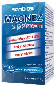 SANBIOS Magnez z potasem 60tabl.