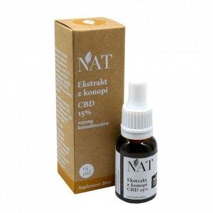 NAT Olejek - ekstrakt z konopi 15% CBD 15ml