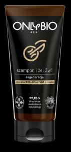 SZAMPON I ŻEL 2w1 REGENERACYJNY DLA MĘŻCZYZN TUBA 200 ml - ONLY BIO