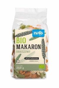 MAKARON (ORKISZOWY KOLOROWY) JEŻYKI BIO 250 g - NIRO