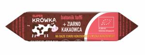 KRÓWKA BATON KAKAOWY Z ZIARNAMI KAKAOWCA BEZGLUTENOWY BIO 30 g - SUPER KRÓWKA