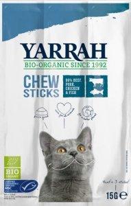 (DLA KOTA) PAŁECZKI DO GRYZIENIA Z WOŁOWINĄ I RYBĄ BIO (3 x 5 g) 15 g - YARRAH