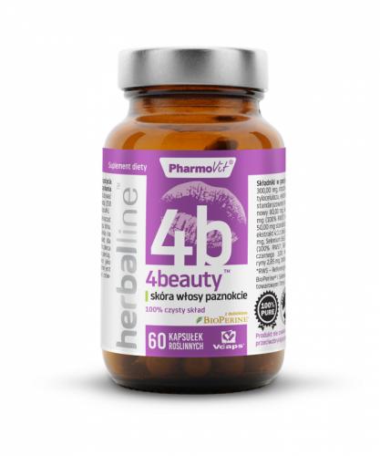 4BEAUTY NA SKÓRĘ, WŁOSY I PAZNOKCIE 60 KAPSUŁEK 27,12 g - PHARMOVIT (HERBALLINE)