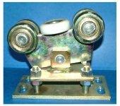 Wózek bramowy regulowany wahliwy koła do profilu 80 stalowe