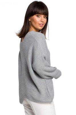 BK026 Sweter asymetryczny - szary