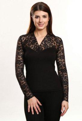 1 Christina długi rękaw czarna bluzka PROMO