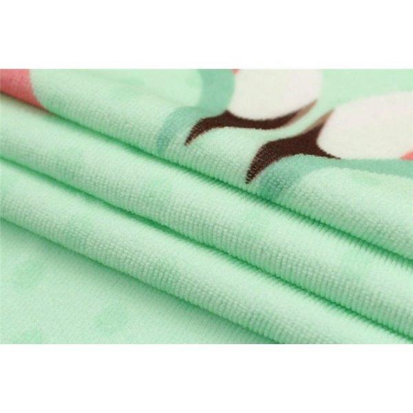 Ręcznik plażowy prostokątny mały 150x70 LOVE FLAMINGS REC45WZ6