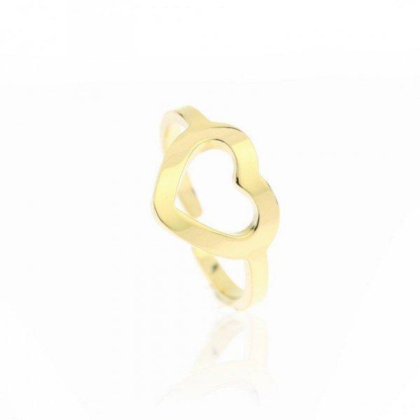 Pierścionek stal chirurgiczna platerowana złotem PST603, Rozmiar pierścionków: US8 EU17