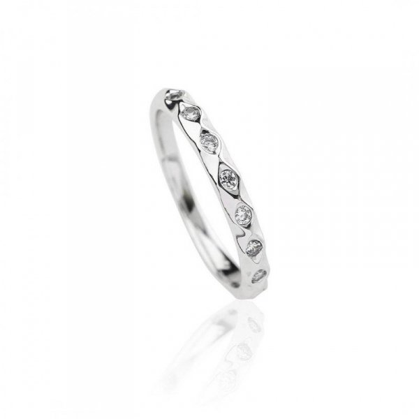 Pierścionek stal szlachetna rodowana PST624, Rozmiar pierścionków: US8 EU17