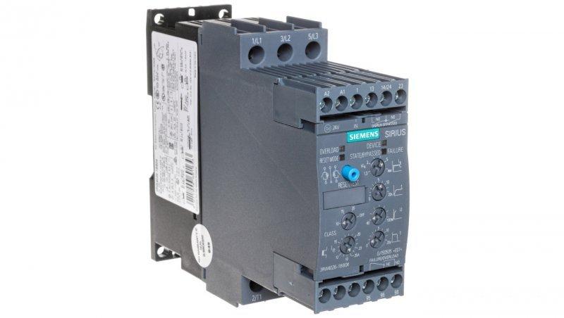 Softstart 3-fazowy 200-480VAC 25A 11kW/400V Uc=24V AC/DC S0 3RW4026-1BB04