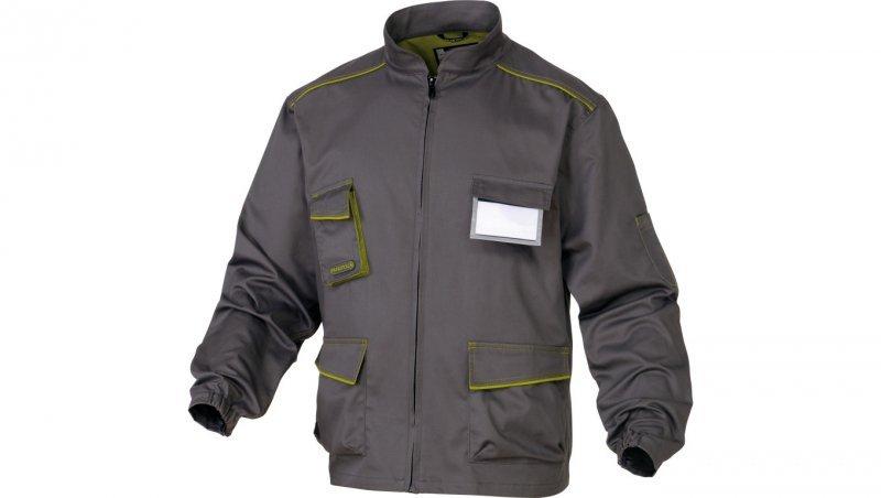 Bluza Panostyle z poliestru i bawełny szaro-zielona XXL M6VESGRXX