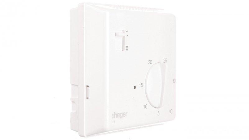 Termostat 230V 8A 5-30°C IP30 biały EK003
