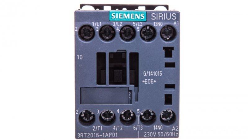 Stycznik mocy 9A 3P 230V AC 1Z 0R S00 3RT2016-1AP01