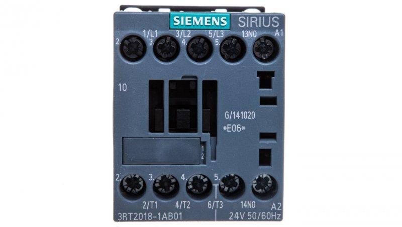 Stycznik mocy 16A 3P 24V AC 1Z 0R S00 3RT2018-1AB01