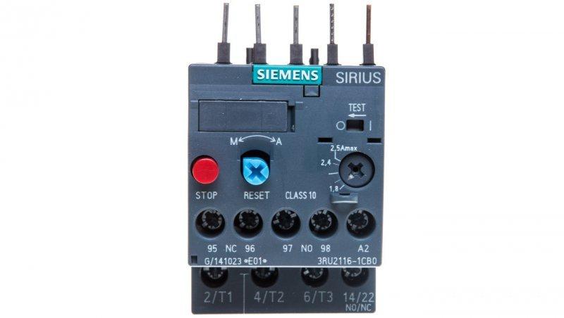 Przekaźnik termiczny 1,8-2,5A S00 3RU2116-1CB0