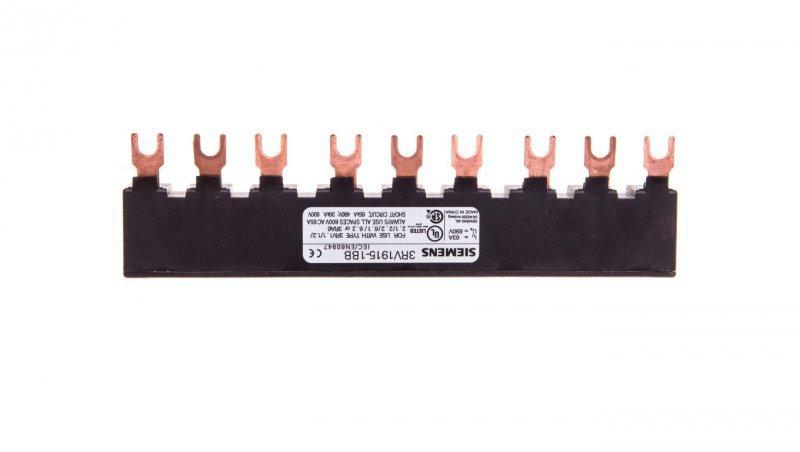 Szyna łączeniowa 3P widełkowa (9 mod.) do 3 wyłączników 3RV1915-1BB