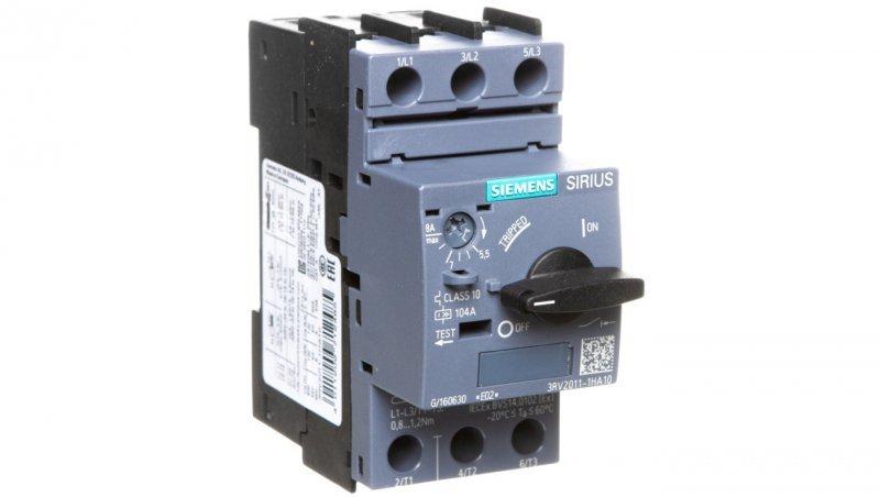 Wyłącznik silnikowy 3P 3kW 5,5-8A S00 3RV2011-1HA10