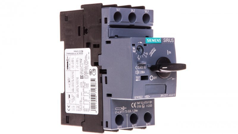 Wyłącznik silnikowy 3P 7,5kW 11-16A S00 3RV2011-4AA10