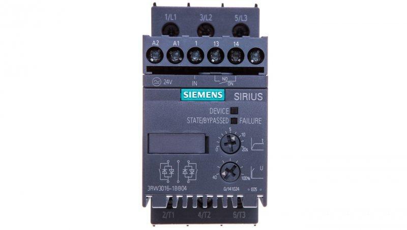Softstart 3-fazowy 200-480VAC 9A 4kW/400V Uc=24V AC/DC S00 3RW3016-1BB04
