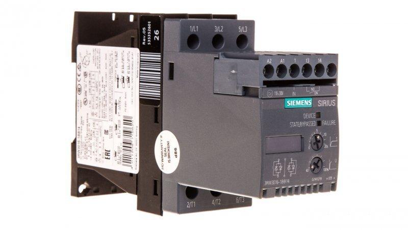 Softstart 3-fazowy 200-480VAC 6,5A 3kW/400V Uc=110-230V AC/DC S00 3RW3016-1BB14