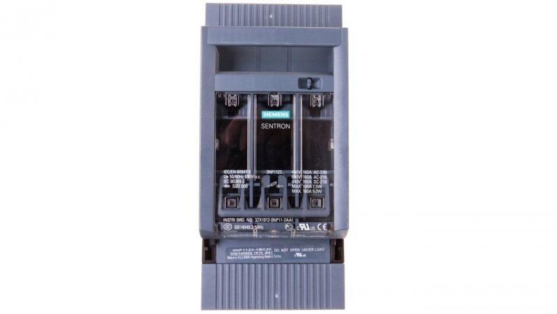 Rozłącznik bezpiecznikowy 3P 160A NH000 do montażu na szynach 60mm 3NP1123-1BC20