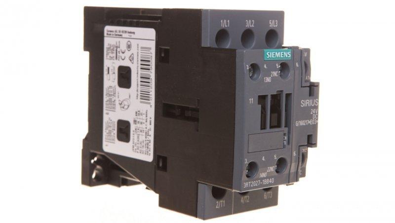 Stycznik mocy 32A 3P 24V DC 1Z 1R S0 3RT2027-1BB40