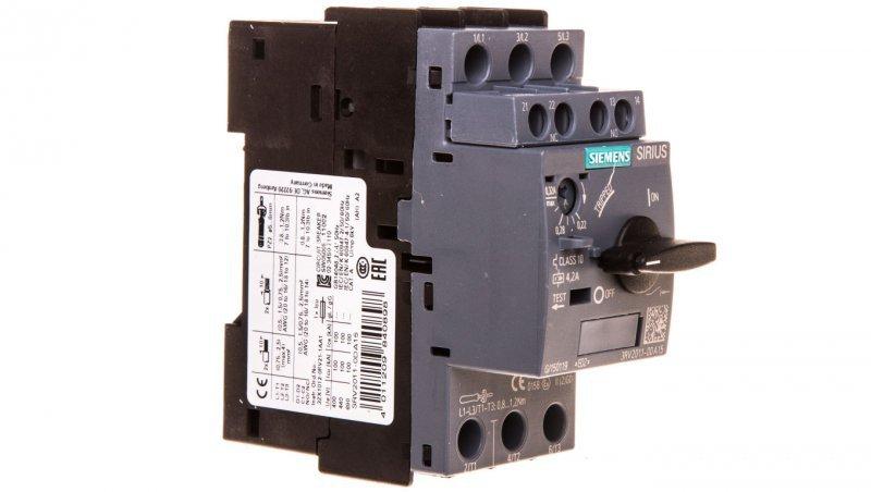 Wyłącznik silnikowy 3P 0,22-0,32A 1Z 1R S00 3RV2011-0DA15