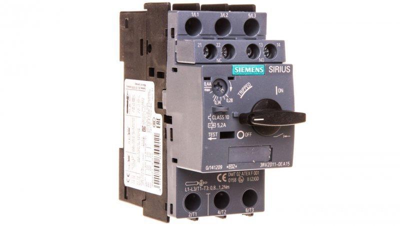Wyłącznik silnikowy 3P 0,28-0,4A 1Z 1R S00 3RV2011-0EA15