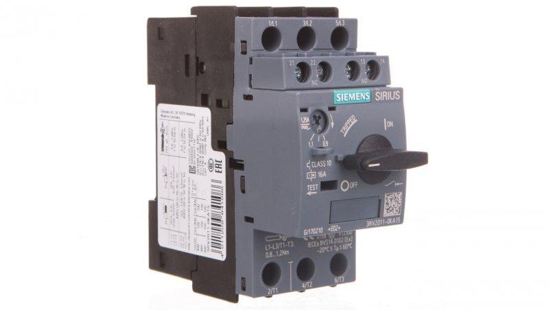 Wyłącznik silnikowy 3P 0,9-1,25A 1Z 1R S00 3RV2011-0KA15