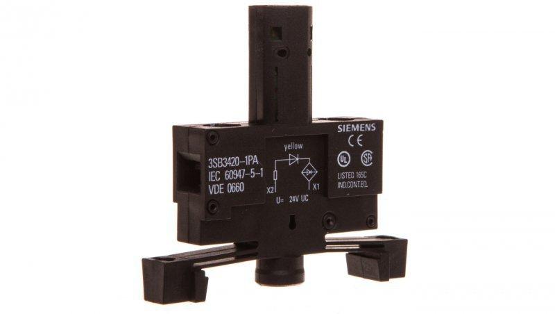 Oprawka z LED żółta 24V AC/DC montaż 22mm 3SB3420-1PA
