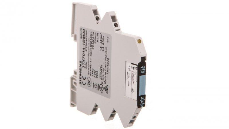 Przekaźnik interfejsowy 1P 3A 24V DC monostabilny 3TX7014-1BM00