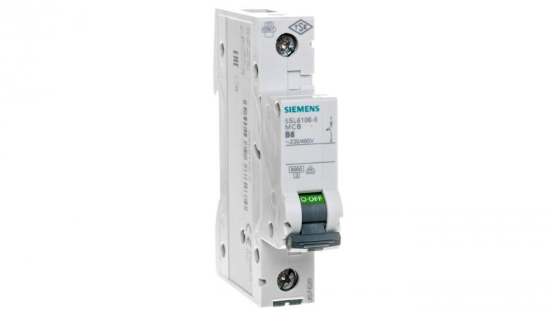 Wyłącznik nadprądowy 1P B 6A 6kA AC 5SL6106-6