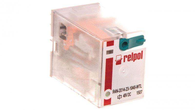 Przekaźnik przemysłowy 4P 48V DC AgNi R4N-2014-23-1048-WTL /100szt./