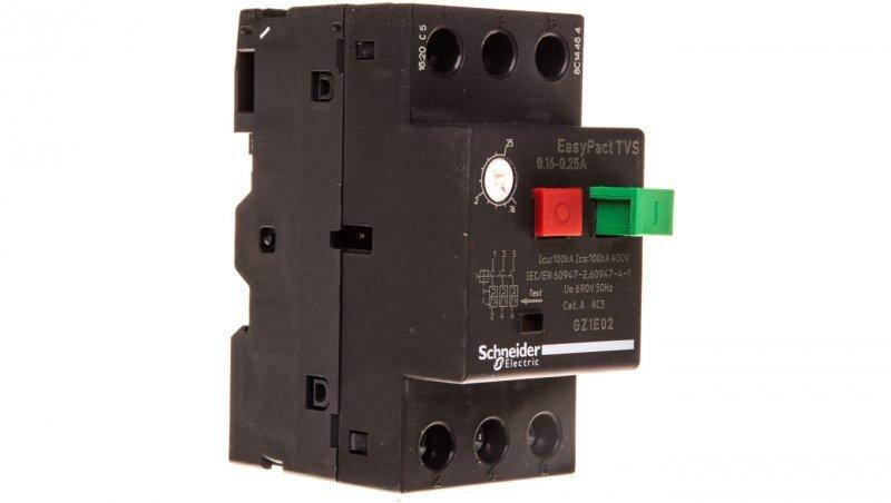 Wyłącznik silnikowy 3P 0,06kW 0,16-0,25A GZ1E02
