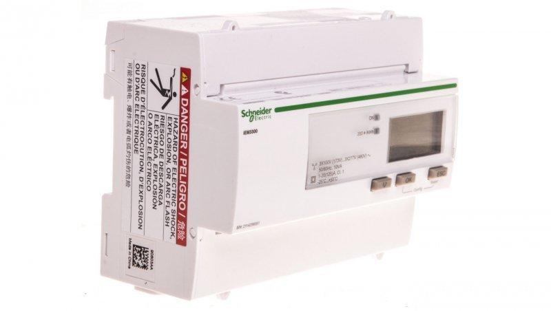 Licznik energii elektrycznej 1/3-fazowy 125A 100-277/173-480V kl.1/B taryfowy cyfrowy modułowy A9MEM3300