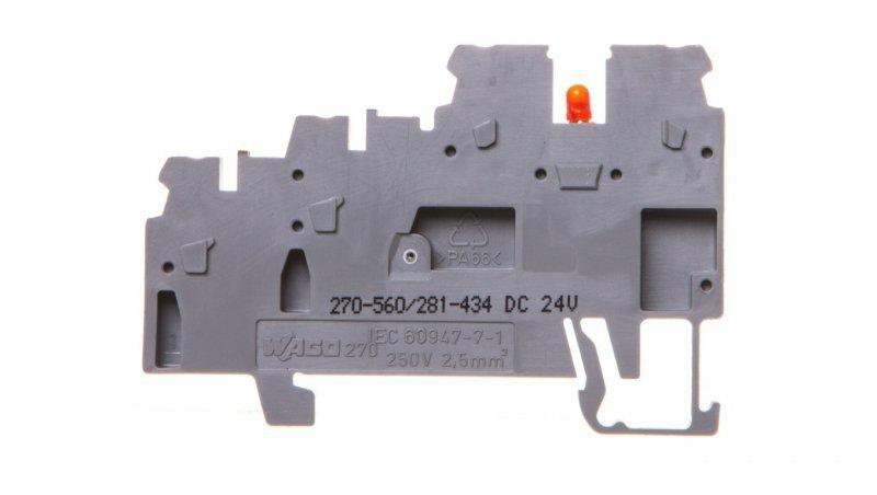 Złączka 3-przewodowa do czujników z LED szara 270-560/281-434