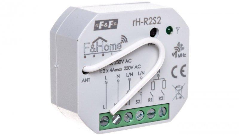 F&Home Radio Przekaźnik dwukanałowy z podwójnym nadajnikiem rH-R2S2