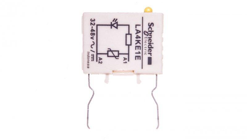 Moduł ogranicznika warystor 32-48V AC/DC ze wskaźnikiem LED LA4KE1E