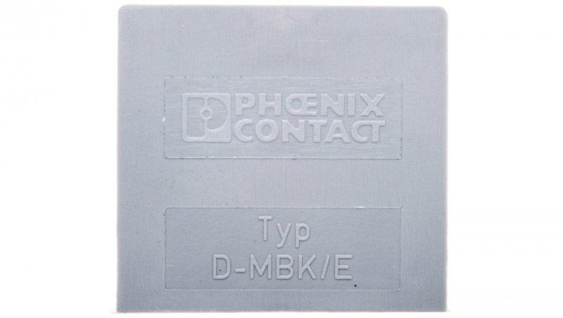Pokrywa zamykająca szara D-MBK/E 1415021 /50szt./