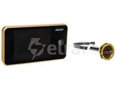 Elektroniczny wizjer do drzwi 3,2cala z szerokokątnym obiektywem złoty OR-WIZ-1104/C