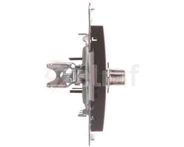 Simon 54 Gniazdo antenowe podwójne typu F antracyt DASF2.01/48