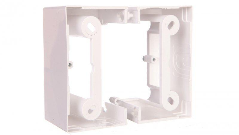 Simon Basic Neos Puszka natynkowa pojedyncza składana 40 mm. (1 szt. PSCS/.. = 2 elementy) biała PSCS/11