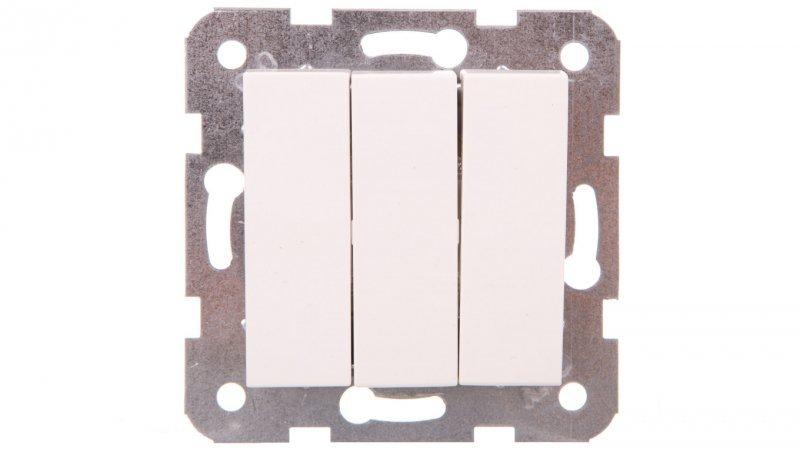 KARRE Łącznik trzy-klawiszowy biały 90964668