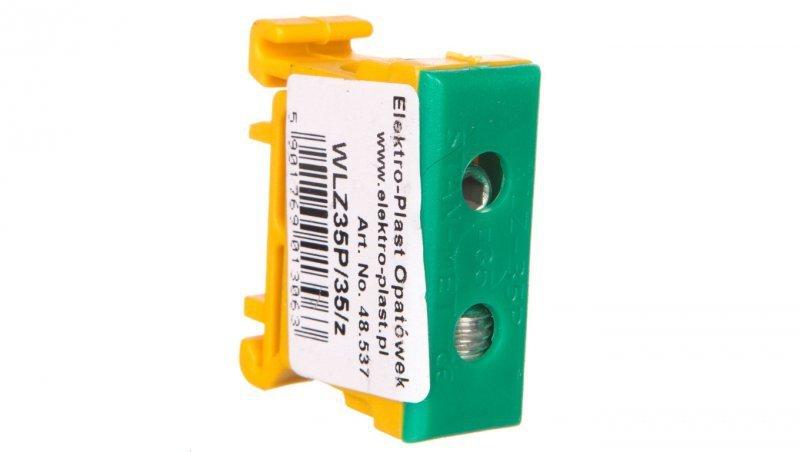 Złączka przelotowa 2-przewodowa 2,5-35mm2 żółto-zielona WLZ35P/35/z 48.537