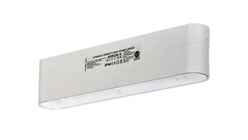 Oprawa awaryjna ARROW N LED 3x1W (opt. koryt.) 1h jednozadaniowa biała ARNC/3x1W/E/1/SE/X/WH